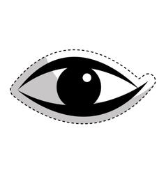 Eye human sign isolated icon vector