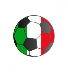 flag of Italy and soccer ball vector image