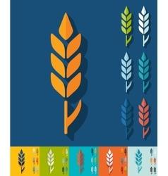 Flat design ear of wheat vector image