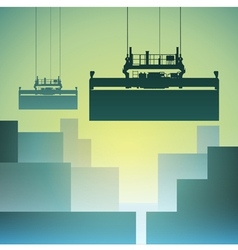 Freight containers vector