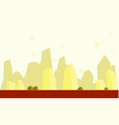 Game background with cliff collection vector