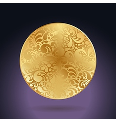 golden curves circle vector image vector image