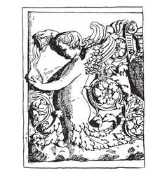 Half-figure roman relief is a design a vector