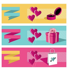 Happy day greeting card sale set vector image