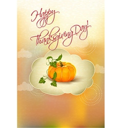 Happy thanksgiving day with pumpkin vector
