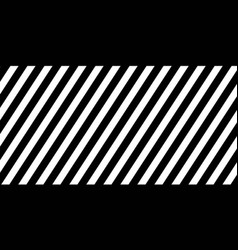horizontal banner black diagonal lines striped vector image