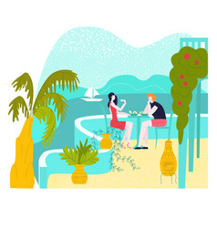 hot tour travel for vacation at summer man and vector image
