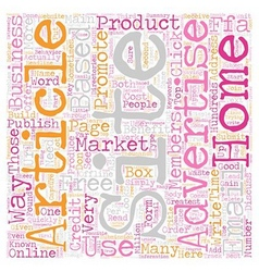 How To Market Your Home Based Business Online text vector image
