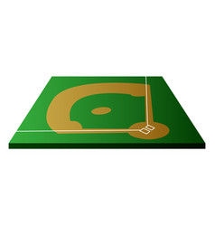 isolated baseball field vector image