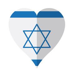 Isolated flag of israel on a heart shape vector