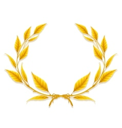 Laurel wreath design element vector