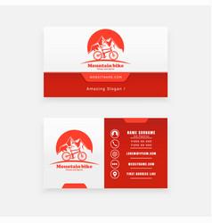 Logo concept business card tourism vector