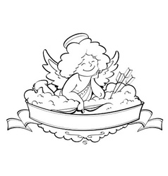 love angel cupid for vector image