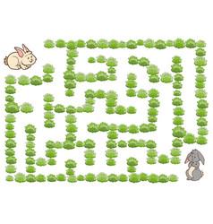 maze game for children rabbit vector image
