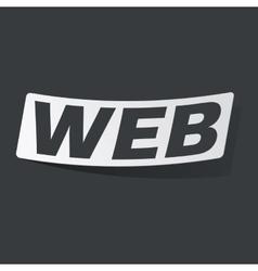 Monochrome WEB sticker vector