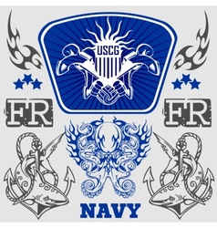 NAVY Military Design vector image