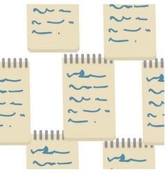 Notepad seamless pattern handwriting and vector