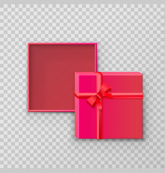 open gift paper square box vector image