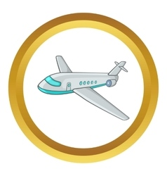 Passenger airliner icon vector image