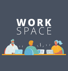people in coworking office concept vector image