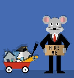 rats life problems vector image