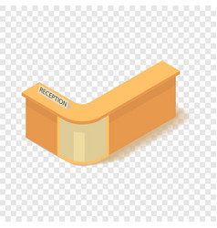 Reception icon isometric 3d style vector