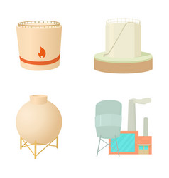 reserve barrel icon set cartoon style vector image