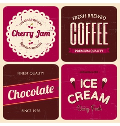 retro design packaging set vector image vector image