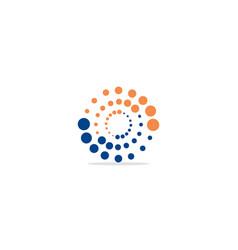 round dot circle colored logo vector image