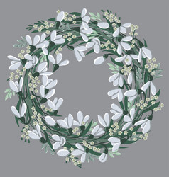 round floral frame wreath with harebell flowers vector image