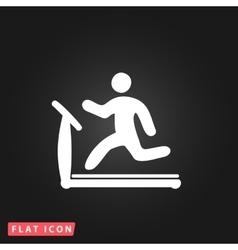 Running flat icon vector
