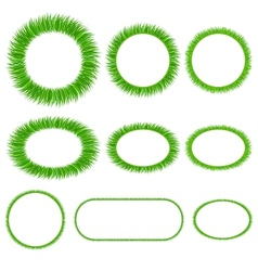 Set grass frameworks vector