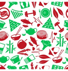 Set of green diet and healthy life style theme vector