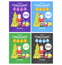 Set of sale holiday website banner templates vector