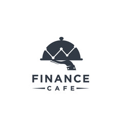 simple financial logo financial cafe menu logo vector image