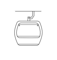 Simple funicular icon on a white background vector