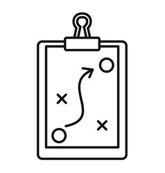 Sport tactical board icon outline style vector