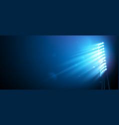 Spotlight on football arena vector