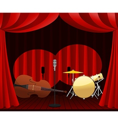 Stage for Jazz show vector