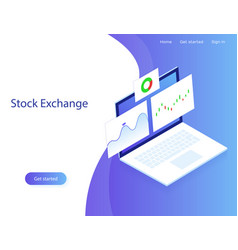 stock exchange market analysisfinance vector image