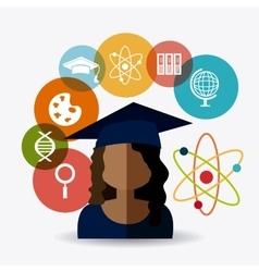 Student graduation design vector image vector image
