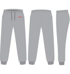 Sweat pants design template vector