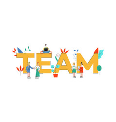 team text design with vector image