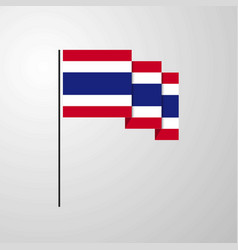 thailand waving flag creative background vector image