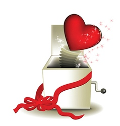 Valentine magic box vector image