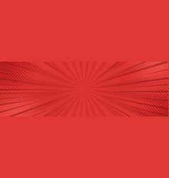 vintage pop art red background banner vector image