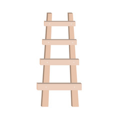 Wooden ladder design vector