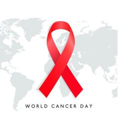 World cancer day design with elegent background vector