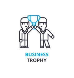 business trophy concept outline icon linear vector image