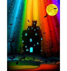 halloween old mansion eps 8 vector image